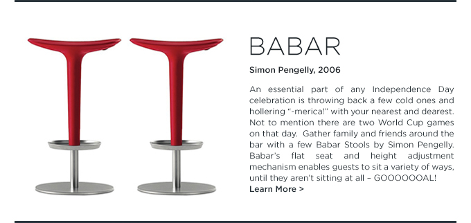 Babar, red Stools, Arper