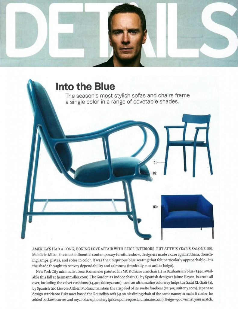 suiteny, suite ny, details magazine, blue, saari armchair, SAARI XL, details, chair, blue, blue chair, Lievore Altherr Molina, furniture, contemporary, contemporary furniture