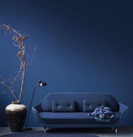 Favn Sofa, Jaime Hayon, Fritz Hansen, blue sofa
