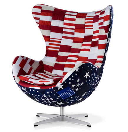 Great American Flag, Egg Chair, Arne Jacobsen, Fritz Hansen, Americana, Modern  Cowboy