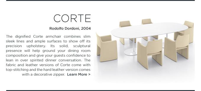 Corte Chair, Rodolfo Dordoni, Arper, upholstered dining chair, beige leather armchair, modern beige dining chair, modern cream dining chair