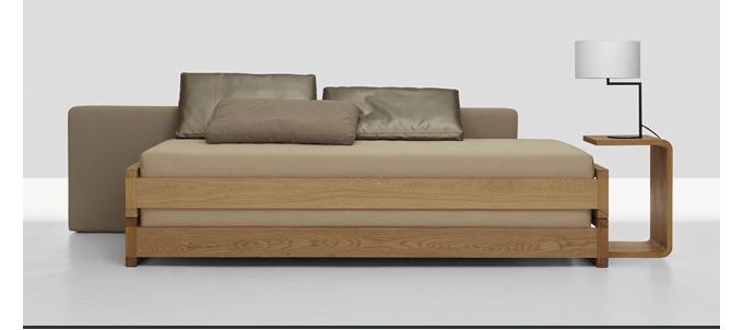 Guest bed, Zeitraum, Hertel Klarhoefer, stacking twin beds, twin bed, stacking beds