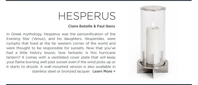 Hesperus, modern, hurricane lantern, When Objects Work, hesperus lamp, candle holder