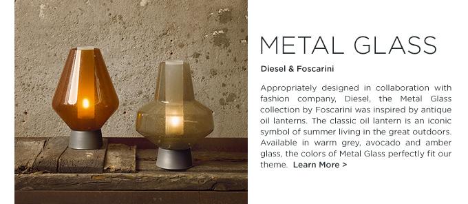 Metal Glass, metal glass diesel, modern lantern, Diesel, Foscarini, modern glass lamps