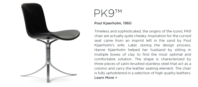 PK9 Chair, Poul Kjaerholm, Fritz Hansen, modern dining chair, black leather modern chair, leather modern chair, kjaerholm dining chair, modern black dining chair