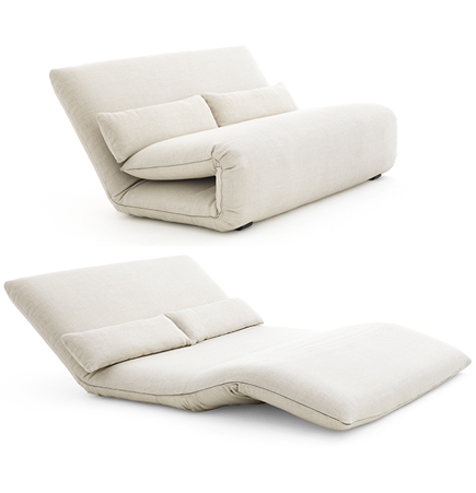 Tattomi Chair, Tattomi, De Padova, DePadova, Jan Armgardt, Ingo Maurer, folding upholstered lounge, Tatami modern chairs, folding sofa bed