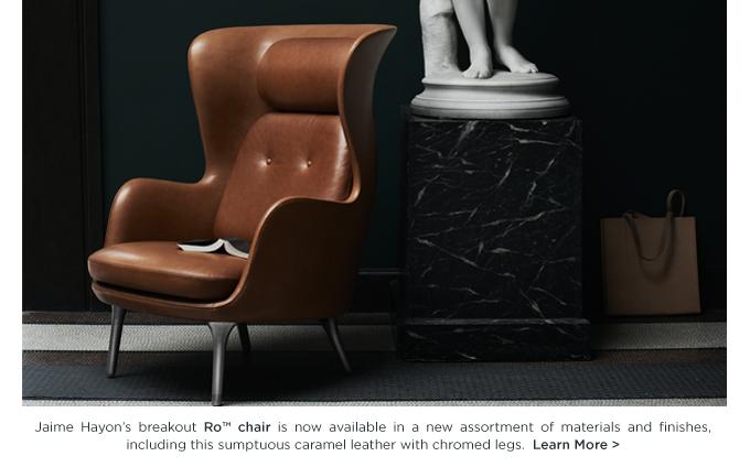 Ro Chair, Jaime Hayon, Fritz Hansen, caramel brown leather