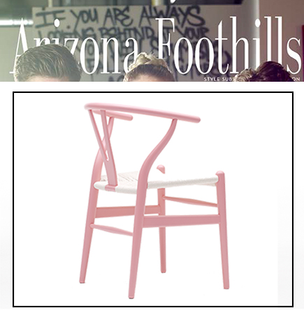 Pink Wishbone, BCRF Pink Wishbone, pink furniture, BCRF, breast cancer research foundation, products for charity, in style, instyle, instyle october 2014, products with donations, pink chair