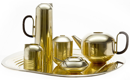 Tom Dixon, Form Tea Set, Brass tea service, tom dixon eclectic, brass tea pot, gold tea set