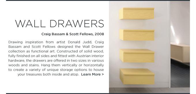 Wall Drawers, BassamFellows, Craig Bassam, Scott Fellows