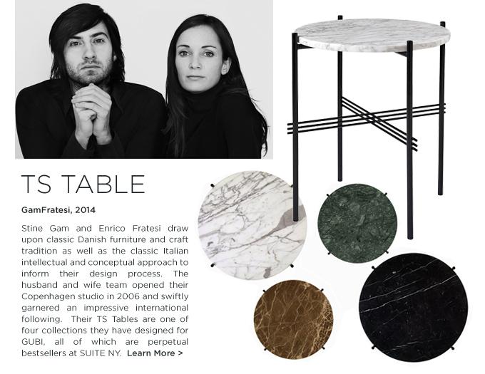 GUBI, TS Table, GUBI TS, Gamfratesi TS, GamFratesi, young danish furniture designers, Enrico Fratesi, Stine Gam
