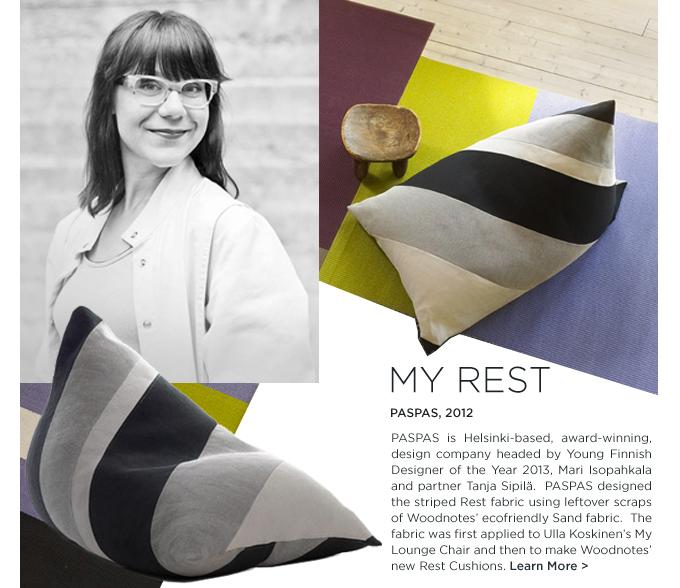 Mari Isopahkala, My Rest, Rest, lounge chair Woodnotes, finnish designer