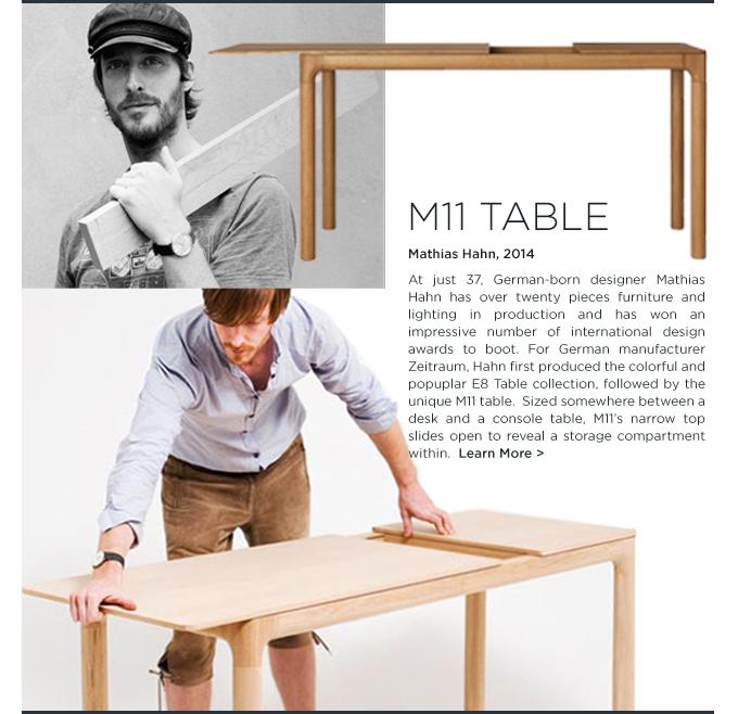 Mathias Hahn, M11 Table, Zeitraum, narrow desk