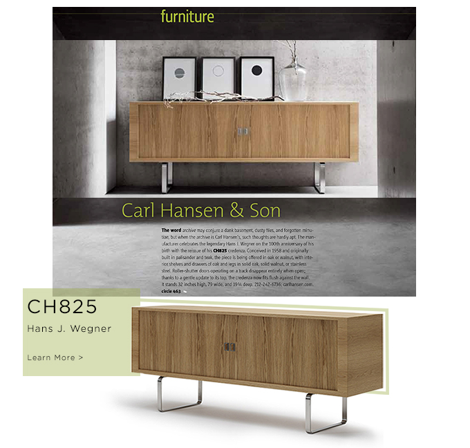CH825, CH825 Credenza, Hans J. Wegner, Carl Hansen & Son, iconic furniture, sideboards, suiteny, suiteny.com, suite new york