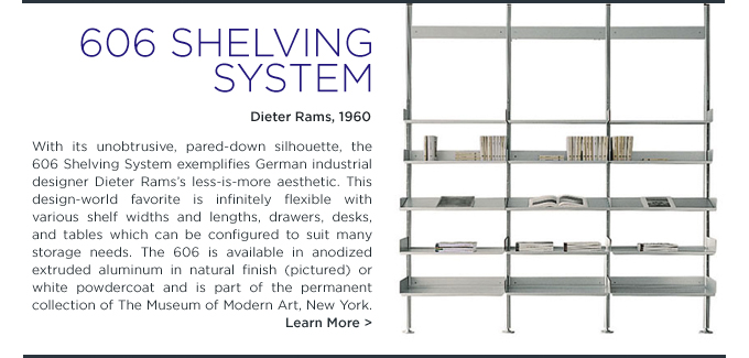 606 Shelving System, De Padova, Dieter Rams, DePadova, SUITE NY, suiteny.com, dieter rams 606, modern shelving system, modern metal bookshelves,