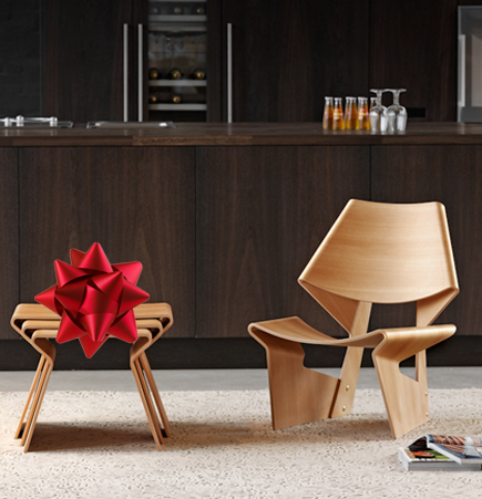 SUITE NY, Gift of Luxury, GJ Chair, Grete Jalk, Lange Production, moulded plywood chair, contemporary wood chair, modern wood chair, Jalk Chair