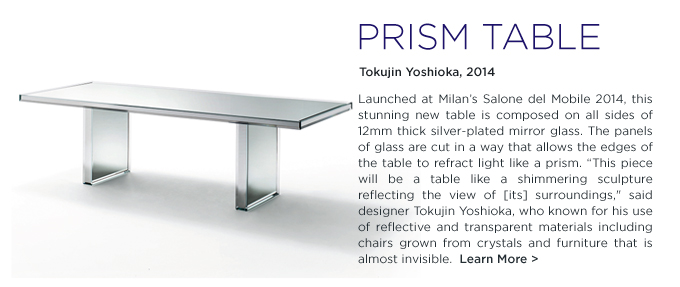 Prism Dining Table, PRISM glas italia, prism table, mirrored table, Glas Italia, Tokujin Yoskioka, SUITE NY, mirror, suiteny.com