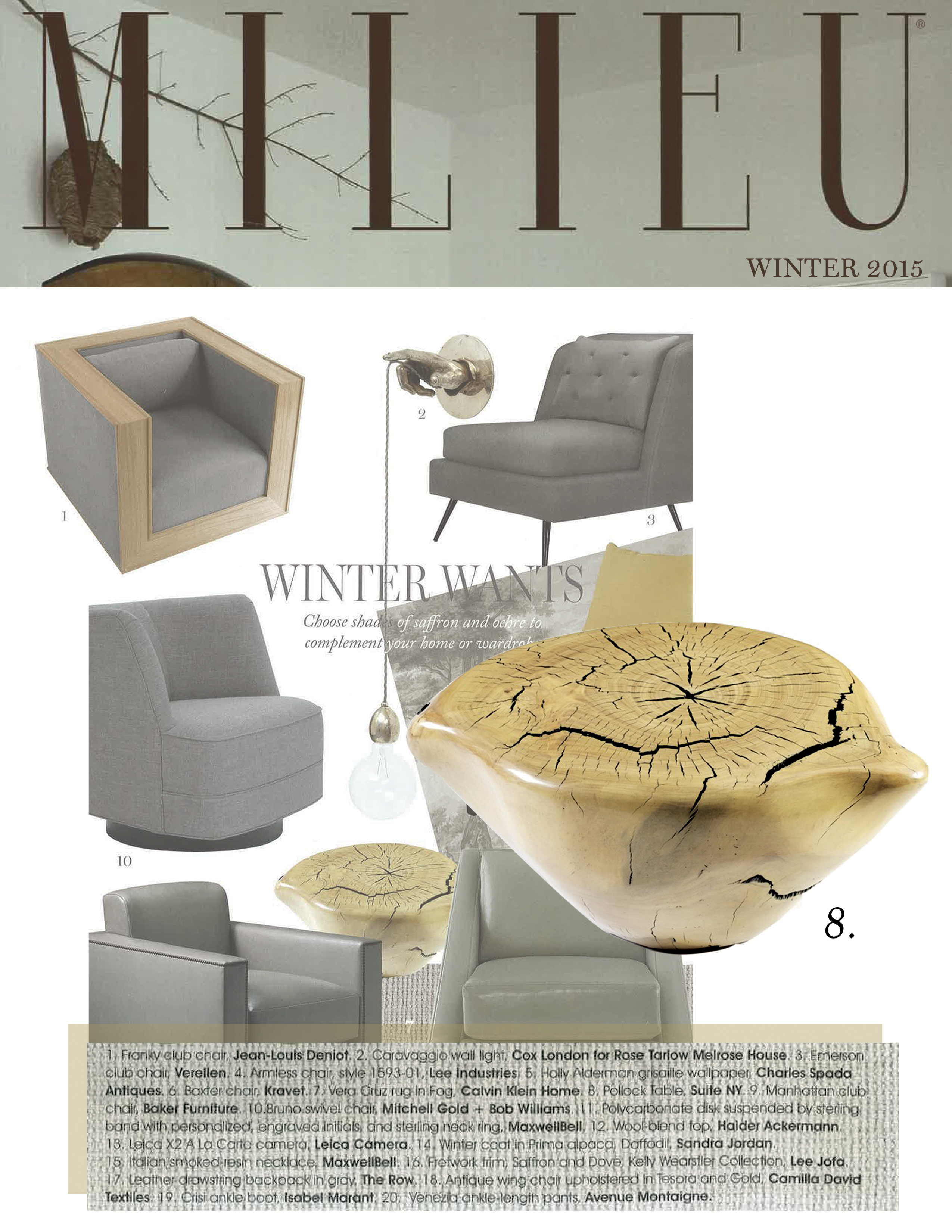 Dan Pollock, pollock, dan pollock, wooden table, modern nesting tables, hand crafted tables, pollock tables, occasional tables, suite ny, suiteny.com, suite new york, millieu magazine, winter 2014