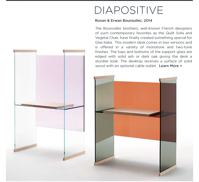 Diapositive, Desk, Ronan Bouroullec, Bouroullec, Glas Italia, colorful, glass, workstation