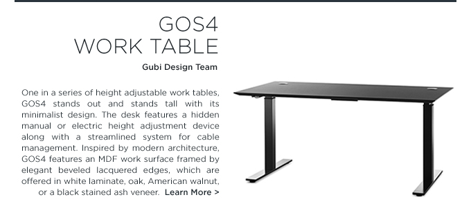 Gubi, gubi design team, GOS4 Work Table, work tables, height adjustable desks, office furniture, standing desk, tall desk, office furniture, suite ny, suiteny, suiteny.com, suite new york