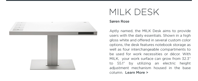 milk desk, milk desk classic, soren rose, height adjustable desks, standing desks, tall desks, office furniture, modern office furniture, suiteny, suiteny.com, suite new york,
