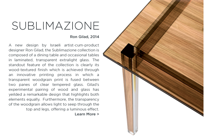 Sublimazione, Ron Gilad, Glas Italia, modern, wood, woodgrain, glass, dining table