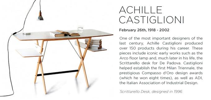 Achille Castiglioni, Scrittarello Desk, De Padova