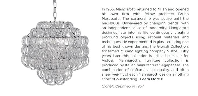 Angelo Mangiarotti, Giogali, Giogali SP, Vistosi, clear glass light, clear glass chandelier