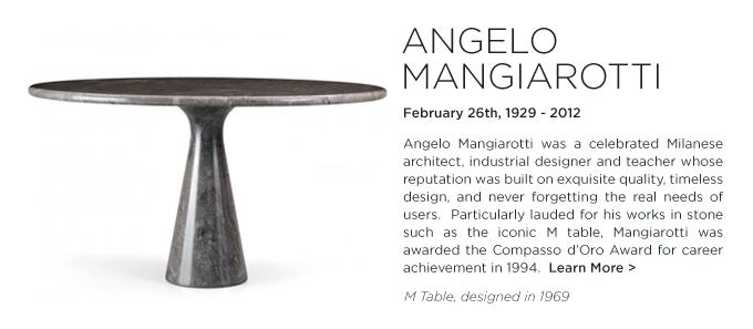 Angelo Mangiarotti, M Table, Agapecasa, black marble, round dining table
