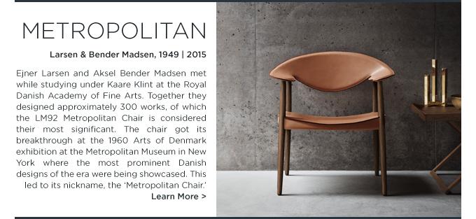 LM92 Metropolitan Chair, Carl Hansen, Larsen Bender Madsen, danish modern, modern armchair, modern leather armchair