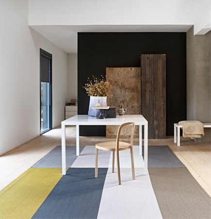 Woodnotes, fourways, rug, ritva puotila, design, modern, carpet, color blocking