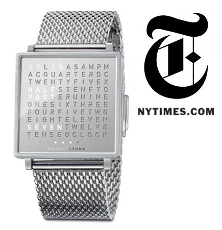 Biegert and Funk, Biegert & Funk, Qlocktwo W, QlockTwo Watch, Accessories, Hi-tech, watches, stainless steel accessories, suiteny, suite ny, suiteny.com, suite new york, new york times online