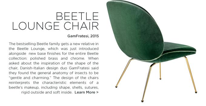 Beetle Lounge, beelte chair, GamFratesi, GUBI, green velvet, brass legs, gold legs, modern danish design