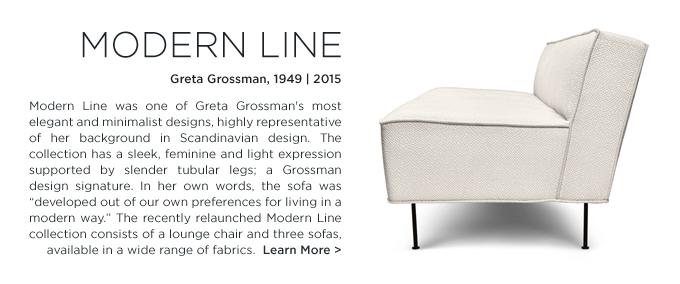 Gubi modern line, GUBI, Greta Grossman, Modern Line sofa, white, midcentury, modern lounge seating
