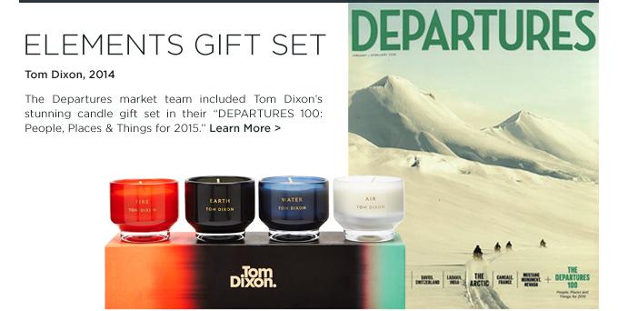 Departures Magazine, Tom Dixon, Scent Elements Candles Gift Set, candle gift set, tom dixon gift