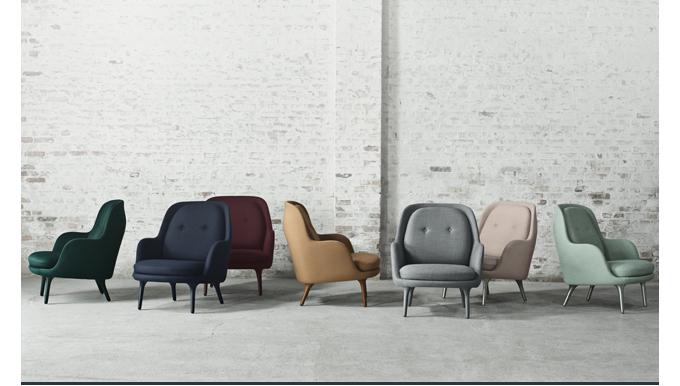 Fri chair, jaime hayon, fritz hansen, suite ny, modern lounge, armchair, blue, green, mint, pink, grey, navy