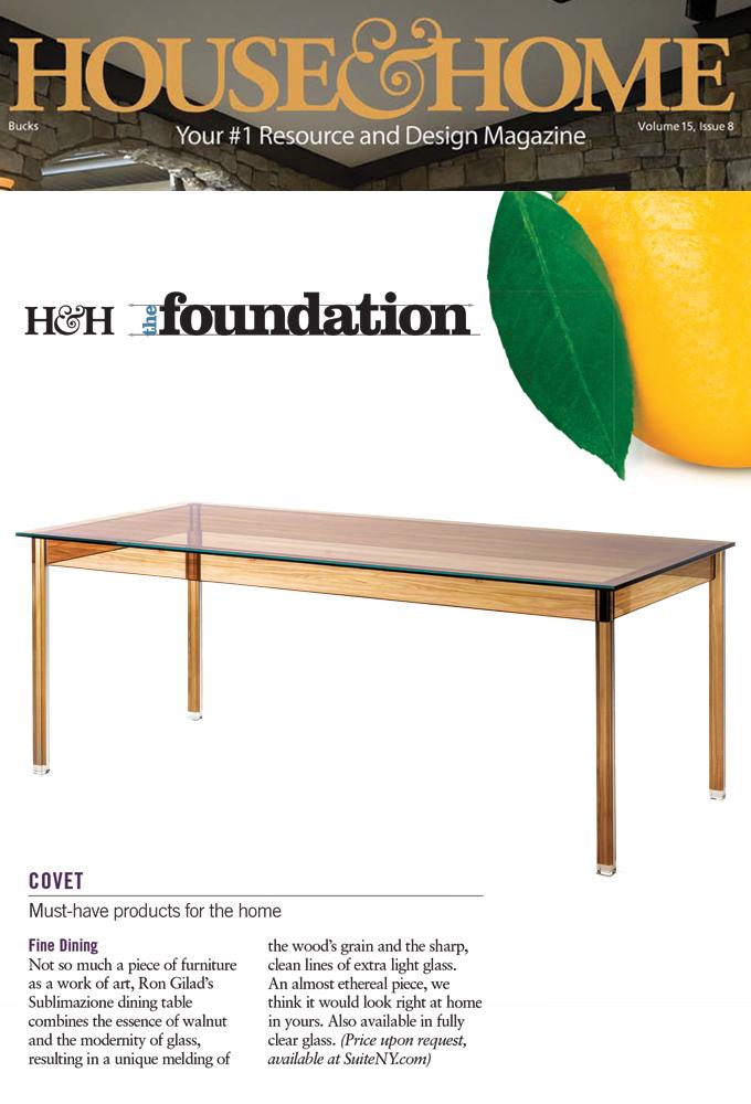 Sublimazione Table, Ron Gilad, Glas Italia, Glass Furniture, Glass Tables,  Italian