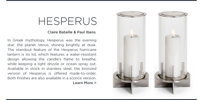 Hesperus, Hurricane Lantern, Bataille Ibens, stainless steel, waterproof hurricane, modern lantern, when objects work