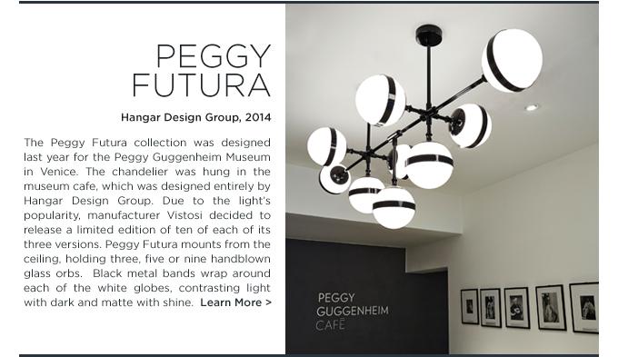 Peggy Futura, chandelier, Vistosi peggy, Vistosi, hanging light, black and white, guggenheim museum, hangar design group