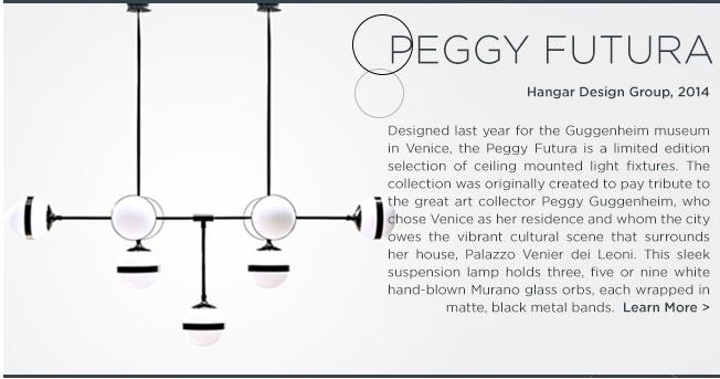 Peggy futura, hangar design group, vistosi, peggy guggenheim, contemporary light fixtures, high end lighting, murano glass light fixtures, suspension chandeliers, suite ny, suite new york