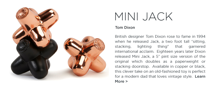 Mini Jack Tom Dixon brass black paperweight doorstop modern gifts for dad fathers day