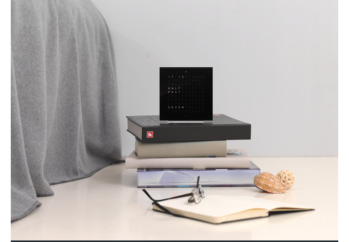 Modern GIFTS FOR DAD SUITE NY Qlocktwo Touch black square alarm clock 2