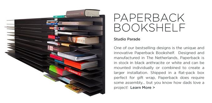 Paperback bookshelf spectrum studio parade suiteny black modern gifts