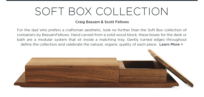 Soft Box Collection BassamFellows modern wood desk accessories gifts for dads modern father days
