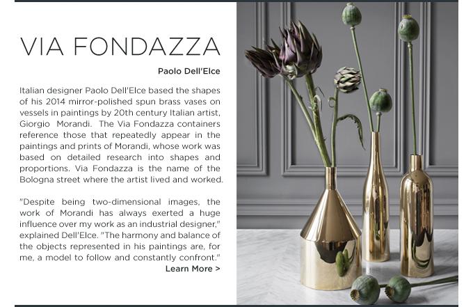 Via Fondazza vase, Skultuna, polished brass, Paolo dell'elce, sweden, modern home accessories