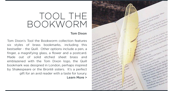 quill bookmark tom dixon tool the bookworm modern gifts for dads suiteny
