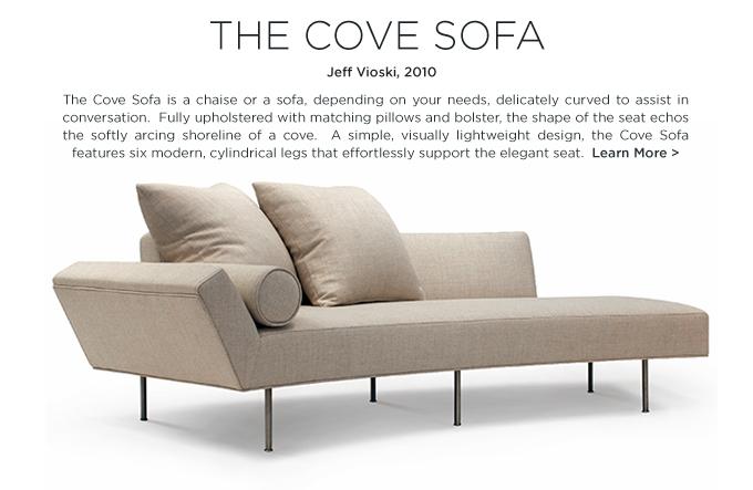 Cove Sofa, Vioski Cove, Jeff Vioski, curved sofa, modern sofa, feminine chaise, daybed, SUITE NY, beige