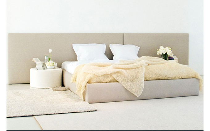 Woodnotes Bed Concept ecofriendly paperyarn Finnish upholstered SUITE NY 3