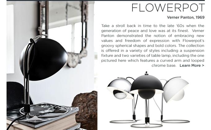 andtradition flowerpot pendant table lamp verner panton danish design