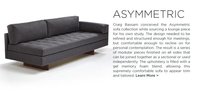 BASSAMFELLOWS, furniture 2015, exits gallery, milan, asymmetric sofa, mantis chair
